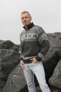 Telemark-kuvioinen villapaita